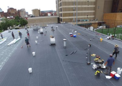 Flat Roof being replaced